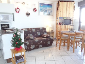 Décoration de Noël et sapin dans le studio au Pla d'Adet Saint-Lary