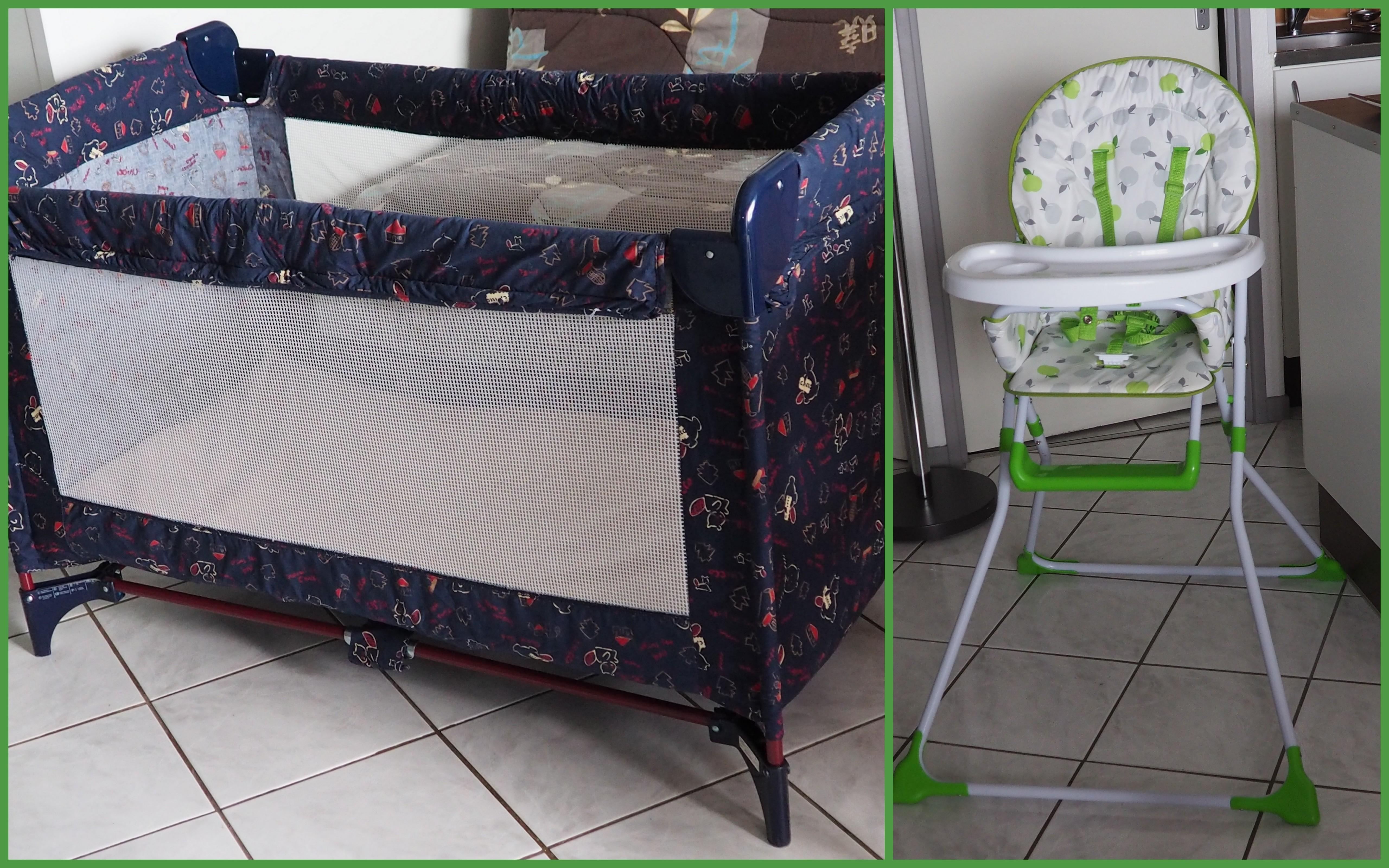 nouveaut s dans le logement lit parapluie et chaise haute pour b b location appartement. Black Bedroom Furniture Sets. Home Design Ideas