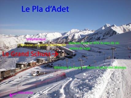 Pla d'Adet-secteur skiable 1700